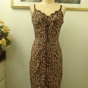 A.B.S by Allen Schwartz Leopard Print Midi Dress